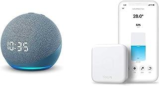 【セット買い】Echo Dot (第4世代) 時計付き トワイライトブルー + Nature スマートリモコン Remo 3