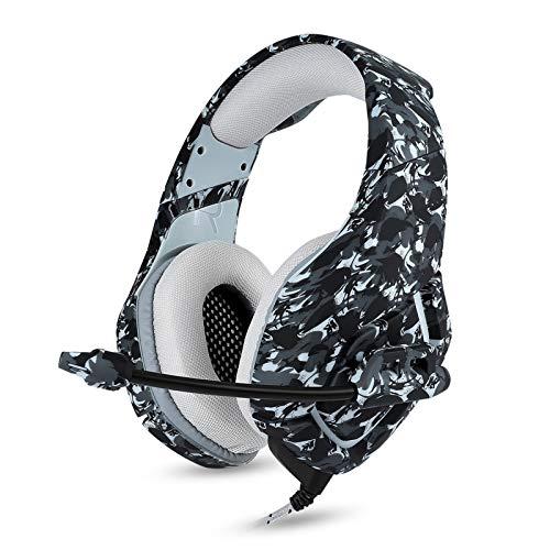 ZKKZ PS4 Dedicado Gaming Headset, una excelente Comodidad de reducción de Ruido, Ventilador de Auricular, Apto para Xbox One PC portátil Ordenador de la tablilla del Ordenador Mac Móvil Black