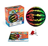 Watermelon Ball JR - Pool Toy for Underwater Games - Durable Ball for Pool Football, Basketball & Rugby - Perfect for Water Parties - Fun for Adults & Kids Alike - 6.5' Fillable Pool Ball - Ages 6+