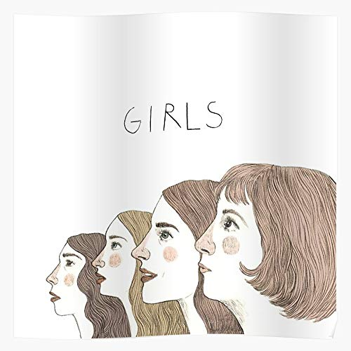 RESIGN HBO Girls HBO Cartoon Hannah Jessa Shoshanna Judd Apatow Lena Dunham I S Poster Gift for Home Decor Wall Art Print Poster
