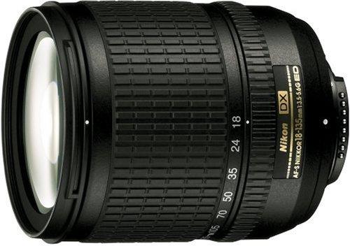 Nikon Zoom-Nikkor 18-135mm f/3.5-5.6 - Objetivo (15/13, 18-135 mm, 73.5 mm, Negro, 67 mm,...