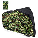 Roctee Bicycle Cover Waterproof Wind Rain Snow Proof Outdoor Mountain Bike Road Travel Bike Cycle Covers with Storage Bag, 78.7''(L) 27.6''(W) 43.3''(H) for XL Size (Black & Camo)