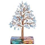 Nupuyai Figura decorativa de 7 chakras hecha a mano, diseño de árbol de la vida, amuleto de la suerte, para casa, árbol de dinero, Feng Shui, decoración para el salón