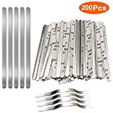Nose Bridge Strips for Mask,Oceantree Aluminum Metal Flat Strips Straps Adjustable Nose Clips Wire for DIY Face Mask Making Accessories for Sewing Crafts (200PCS)