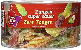 Red Band tong super zuur 1,2 kg doos | vruchtenrubber
