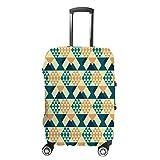 Cubierta de equipaje de viaje Anti-Scratch Maleta cubierta de equipaje Protector caso retro rombo ajuste lavable...
