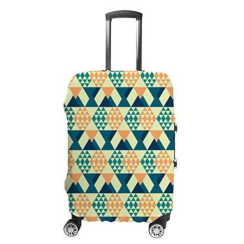 Cubierta de equipaje de viaje Anti-Scratch Maleta cubierta de equipaje Protector caso retro rombo ajuste lavable Accesorios a prueba de polvo