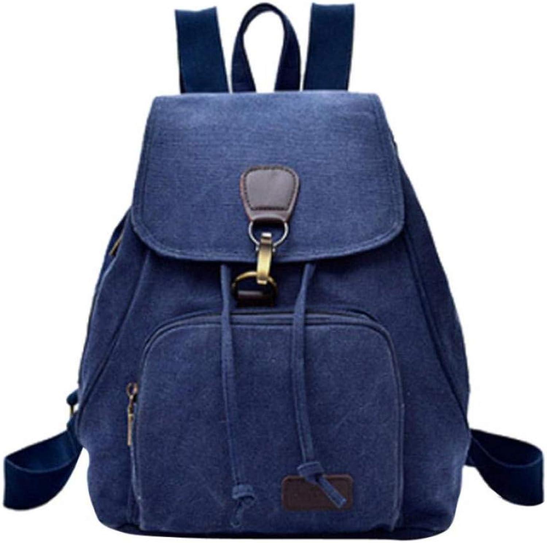 GMYANSJB Canvas Backpack Female Women Canvas Backpack School Lady Girl Travel Student School Laptop Bag Best Gift