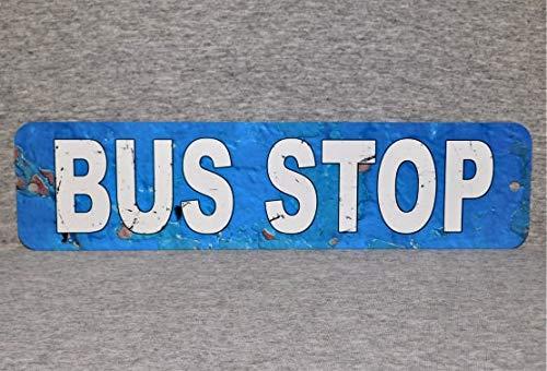 Metal Sign BUS STOP openbaar vervoer bestuurder bussen stad straatvervoer school aluminium muur plaque
