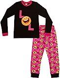LOL Smiley Face Emoji Laugh Out Loud Pyjamas Longs Filles - Noir/Rose - Taille 14-15...
