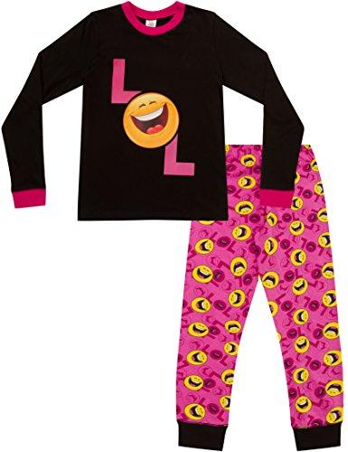 ThePyjamaFactory Mädchen Schlafanzug Pink Rose Gr. 13-14 Jahre, Rose
