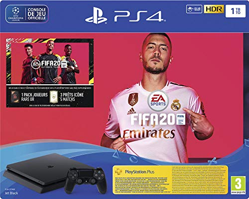 Sony PlayStation 4 Slim 1 To + FIFA 20 + PS Plus 14 jours, A