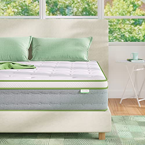 Queen Mattress, Novilla 10 Inch Hybrid Pillow Top Queen Size Mattress in a Box with Gel Memory Foam & Individually Wrapped Pocket Coils Innerspring for a Cool & Peaceful Sleep