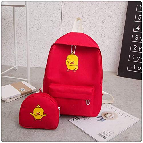 Backpack Backpack Version of Canvas Small Yellow Duck Backpack Female Student Leisure College Bag Girl Bag 39X28X13cm
