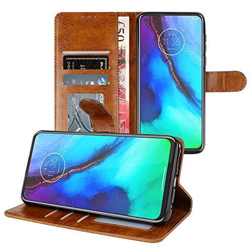 Gadget - Funda de piel para Motorola Moto G Stylus (tarjetero, función atril, tarjetero), compatible con Motorola Moto G Stylus, color marrón