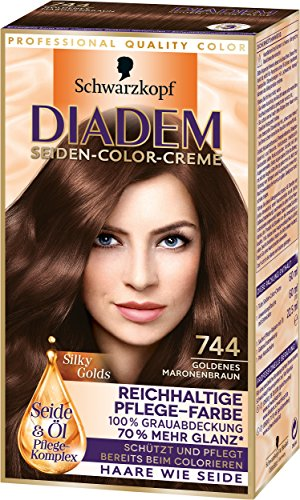 Diadem Seiden-Color-Creme 744 Goldenes Maronenbraun Silky Golds Stufe 3