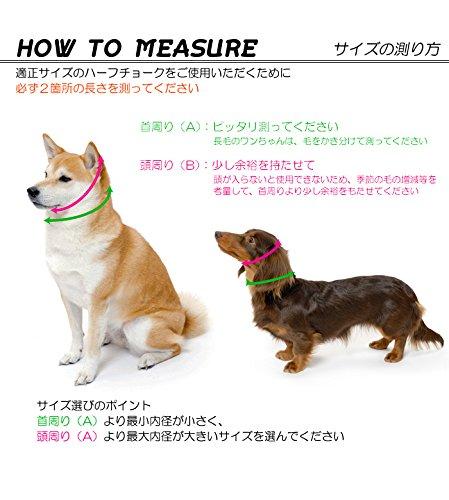 犬の首輪屋てるべる『小型犬用本革製ハーフチョーク13mm幅22~28cm』