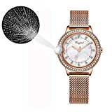 Shiry 100 Languages I Love You Watch Diamond Projection Wristwatch Nano Micro-Carving Ladies Watch Leather Band Watch