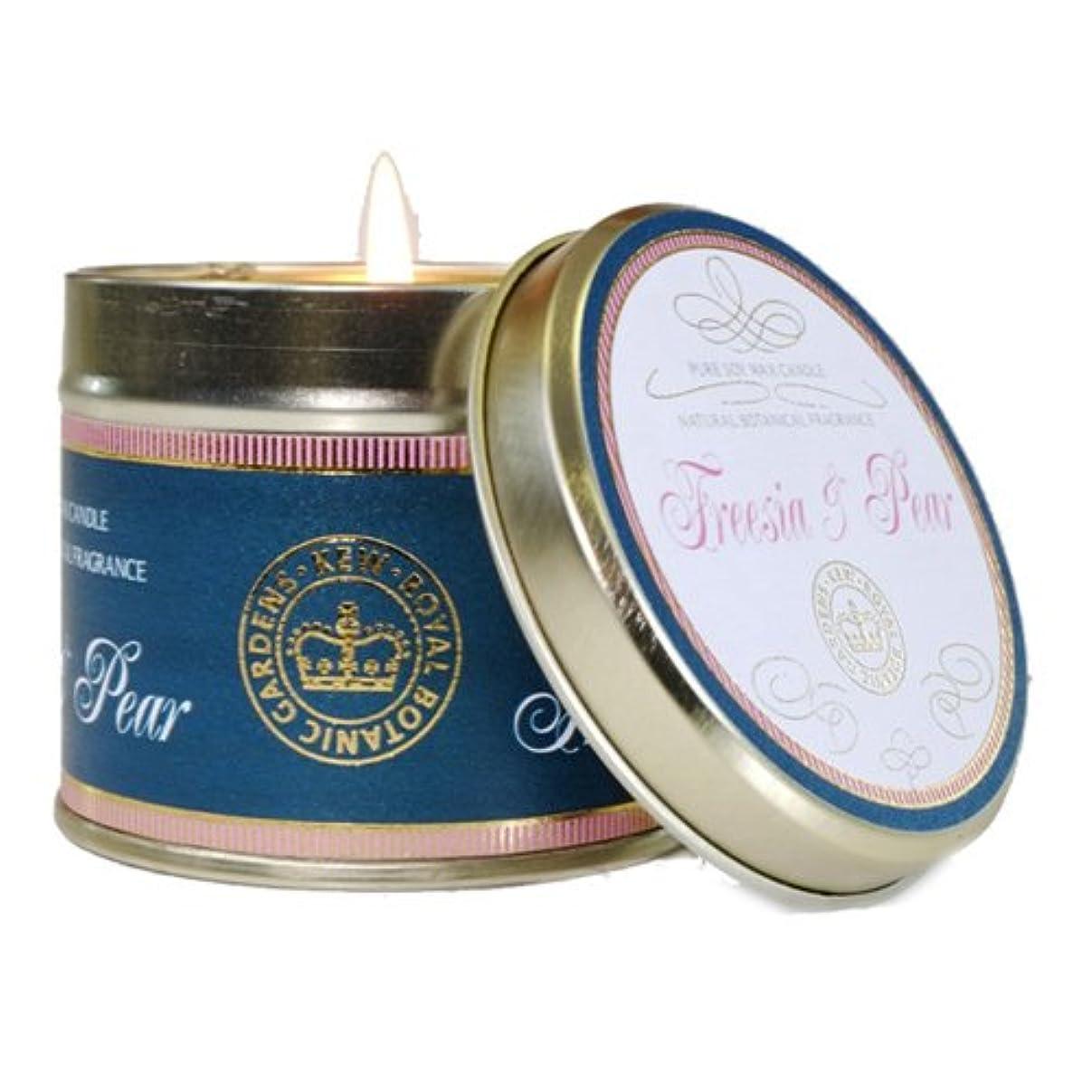 排除する贅沢アイスクリームCANOVA キューヴィンテージ ティンキャンドル フリージア&ペア Kew Vintage TinCandle Freesia&Pear カノーバ