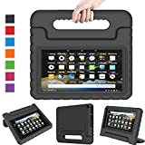 LTROP All-New Fire 7 2019 Case Kids Case for Fire 7 Tablet 9th Generation 2019 Release (7' Display), Portable Shock Proof Light Weight Fire 7 2019 Tablet Case for Kids - Black