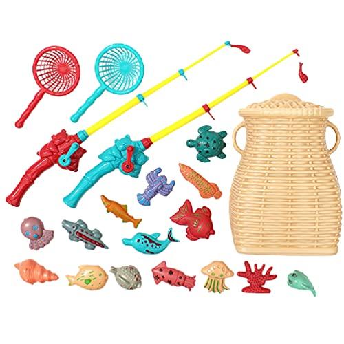 TOYANDONA Juguetes de Pesca para Niños Juego de Pesca Magnético Juguetes de Pesca Juguete Flotante para Peces Zona de Juegos Inflable Divertidos Juegos de Piscina para Niños Pequeños