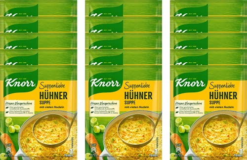 Knorr Suppenliebe Hühner Suppe, 15 x 3 Teller (15 x 750 ml)
