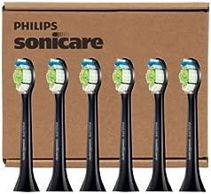 Philips Sonicare DiamondClean Standard Black Brush Heads HX6066/31, 6 Pack