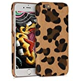 kwmobile Cover Hard Case in Pelle PU e plastica Rigida Compatibile con Smartphone Apple iPhone 6 / 6S - Back Cover Protettiva - Leopardo Marrone/Nero/Marrone Chiaro