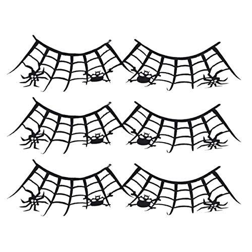 Lurrose 3 Paire d'Halloween Faux Cils Araignée Cils Partie Déguisements Maquillage Art Cils Pour Halloween Performance Carnaval
