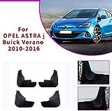BTSDLXX 4 Pcs Set Coche Guardabarros para Opel Verano 2010-2016, Delanteros Traseros Goma Barro Aletas Protectores contra Salpicaduras Accesorios