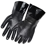 Artisan Griller BBQ Insulated Heat Resistant Cooking Gloves for Grill and Kitchen, Black (Size 10 - 12')