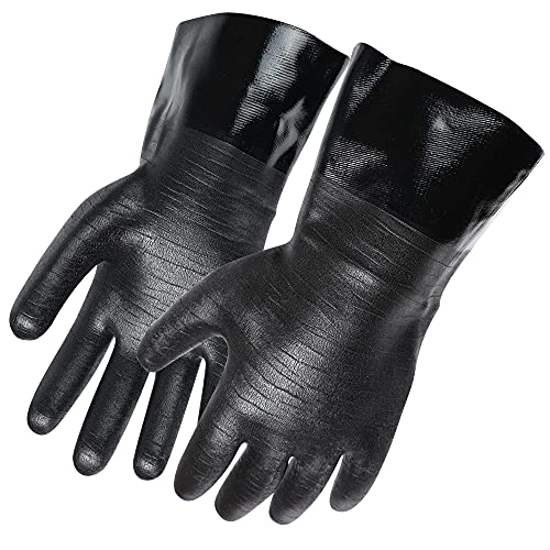 Artisan Griller BBQ Insulated Heat Resistant Cooking Gloves for Grill and Kitchen, Black (Size 10 -...