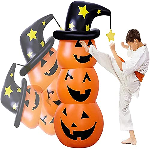 Halloween Inflatables Pumpkin Decorations Outdoor – 4.5 Ft Blow Up Halloween Decorations Clearance Plastic Pumpkins Tumbler/Decor for Halloween Party/Yard/Outside,Roly Poly Toys for Kid