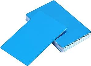 50Pcs Metal Business Cards Blanks for Customer Laser Engraving DIY Gift Cards 5 Colors Optional(Blue)