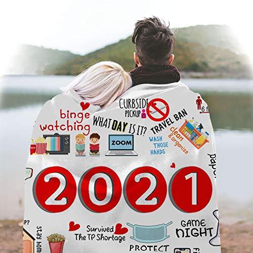 2020/2021 Gedenkdecke ,PlüSchdecke, Wohndecke Kuscheldecken - Gedenkumschlag | Weich | GemüTlich | Warm | Kuscheldecke FüR MäNner Frauen 2021
