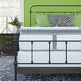 Classic Brands Mercer Cool Gel Memory Foam y Colchón híbrido de muelles interiores de 30.5 cm | Bed-in-a-Box Queen