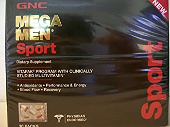 GNC Mega Men Sport Vitapak Program 30 Paks - New Formula by GNC