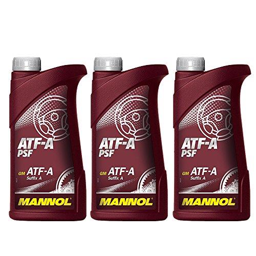 MANNOL 3 x 1L ATF A PSF/Servo- Getriebe- Hydraulik- oel Rot