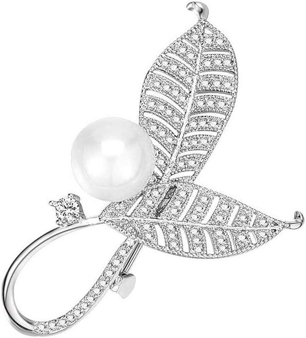 SSMDYLYM Simple Fashion Leaf Brooch, B Alloy Elegant Super High quality beauty product restock quality top Ladies