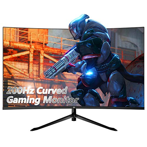 Z-Edge UG32F 32-inch Curved Gaming Monitor 16:9 1920x1080 200Hz Frameless LED Gaming Monitor, AMD Freesync Premium Display Port HDMI Build-in Speakers