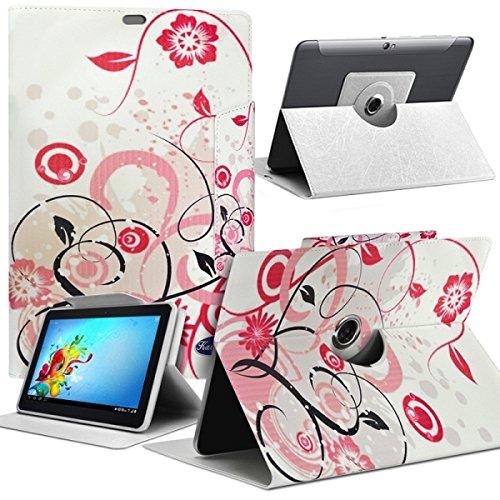 Seluxion-Funda de piel sintética, diseño de flores universal para tablet BQ M Edison 3 mini 8