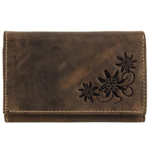 Jennifer Jones Vintage Leder Geldbörse Portemonnaie Geldbeutel Brieftasche 5497