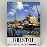 Bristol Railway Poster Metallschild Bristol Harbour Train