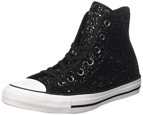 Converse Damen Chuck Taylor CTAS Hi Sneakers, Schwarz (Black/White/Black 001), 36 EU