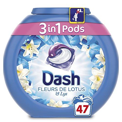 Dash 3in 1Pods Blumen von Lotus Waschmittel Kapseln 47Waschgänge, 3