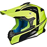 ILM Adult Motocross Dirt Bike Helmet with Super Soft Liner Camera Mount for Men Women ATV Motorcycle Dual Sport DOT(Yellow Black, L)