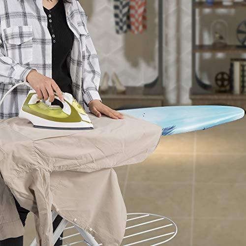 WOLTU BGT08std Bügeltisch Bügelbrett mit Ärmelbrett, Kabelhalter und Wäscheablage Strand 132 x 33,5 cm - 3