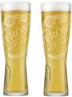 set of 2 Peroni bicchieri da mezza 283,5/ gram//250/ ml New for 2018