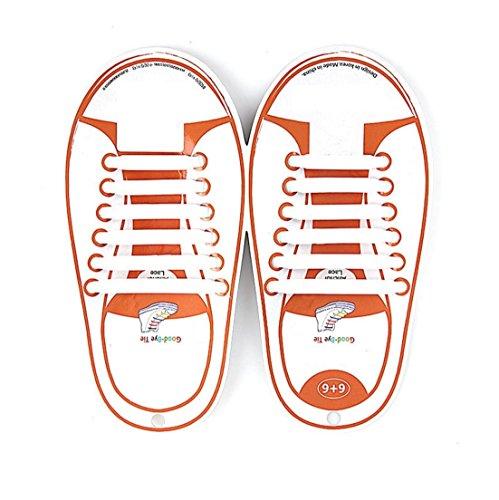 KUYiA Sin Corbata Cordones de Zapatos, Impermeables de Silicona Niños y Adultos Cordones Elásticos, Caminar Atlético Correr Deportivo Moda Planos Shoe Laces para Zapatillas Casuales Tablero Boots