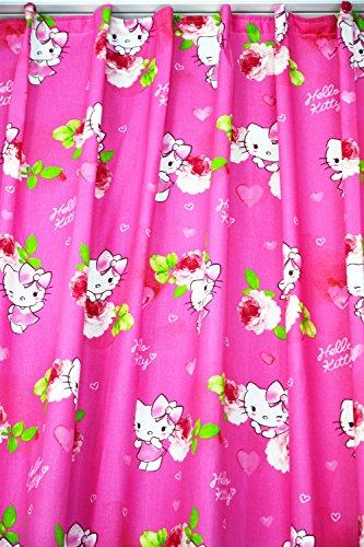NOVUM fix Verdunkelung Kinder-Gardine Vorhang Walt Disney`s Hello Kitty Kinderzimmer Blickdicht, 100% Polyester Bedruckt, pink (140x175cm)